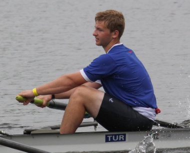 Carter Levine rowing 2015