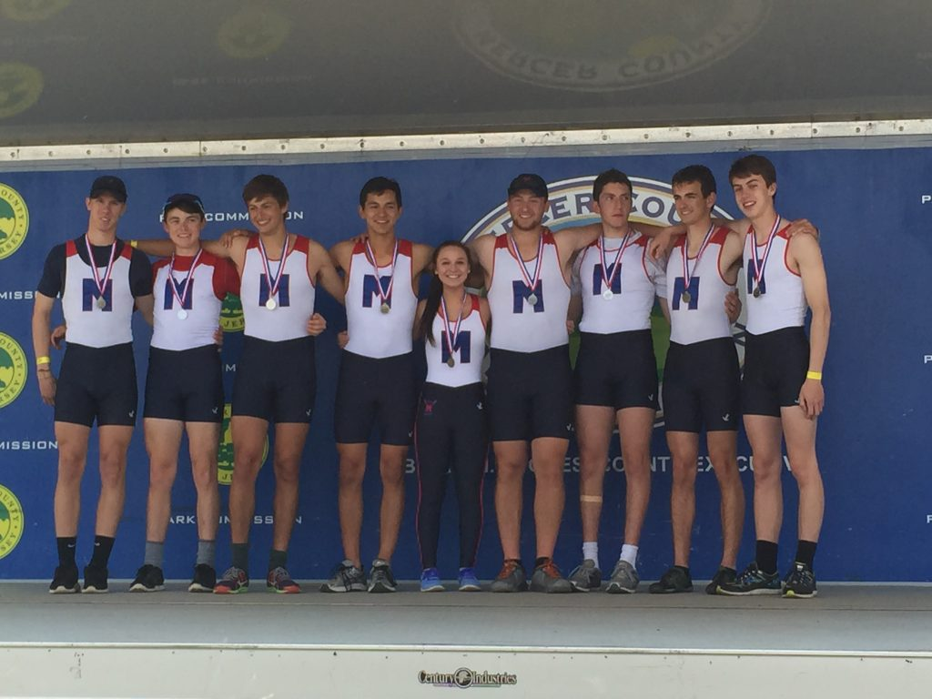 Mercer Boys 8 with coxswain Mid-Atlantic Youth Championships